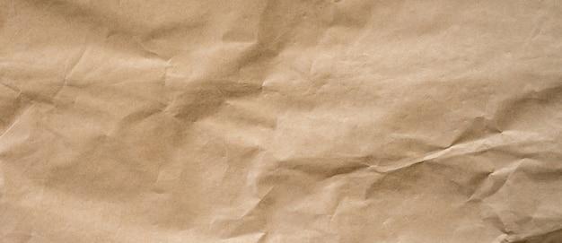 Fond de papier brun froissé et texture avec espace de copie.