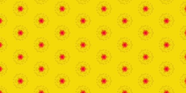 Fond de papier découpé jaune du trou sur la feuille