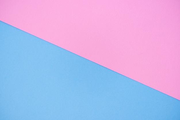 Fond de papier de deux couleurs rose et bleu.