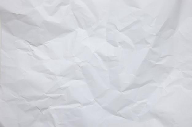 Fond de papier froissé blanc texturé
