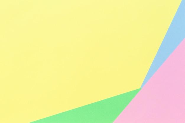 Fond de papier géométrique abstrait dans des tons de couleur pastel clair