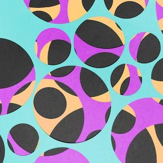 Fond de papier géométrique abstrait vif
