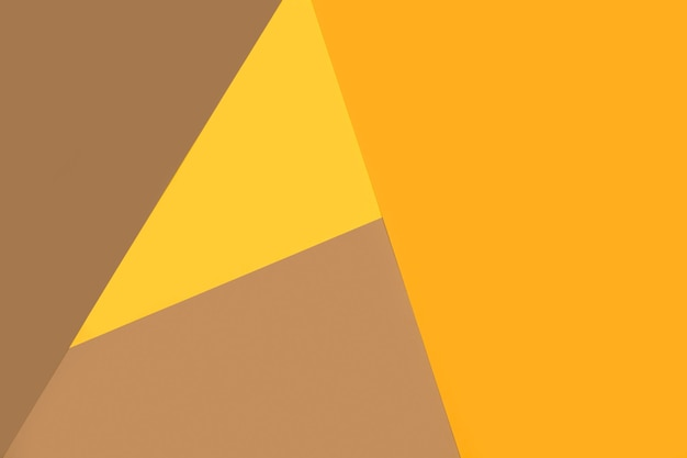 Fond de papier géométrique jaune et marron
