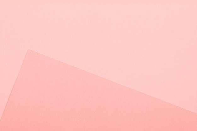 Fond de papier géométrique. maquette de couleur corail vivant pour pose à plat