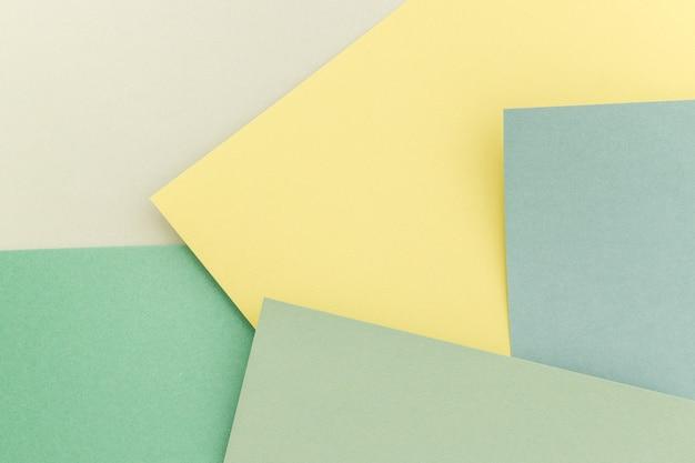 Fond de papier géométrique, texture des tons verts. toile de fond pour votre conception. couleurs pastel du printemps