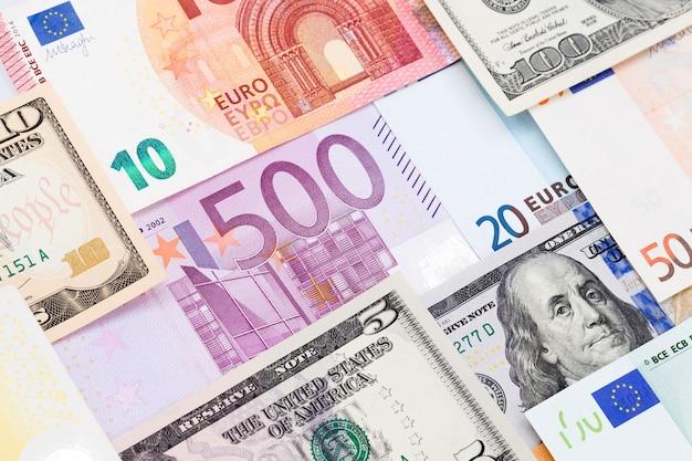 Fond de papier-monnaie du monde coloré. photo haute résolution.