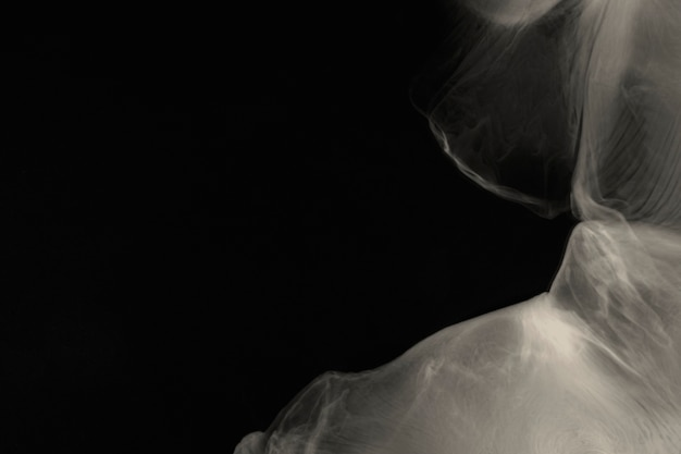 Fond de papier peint de l'espace abstrait, conception de fumée noire