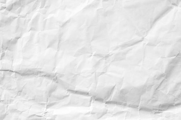 Fond de papier recyclé froissé blanc