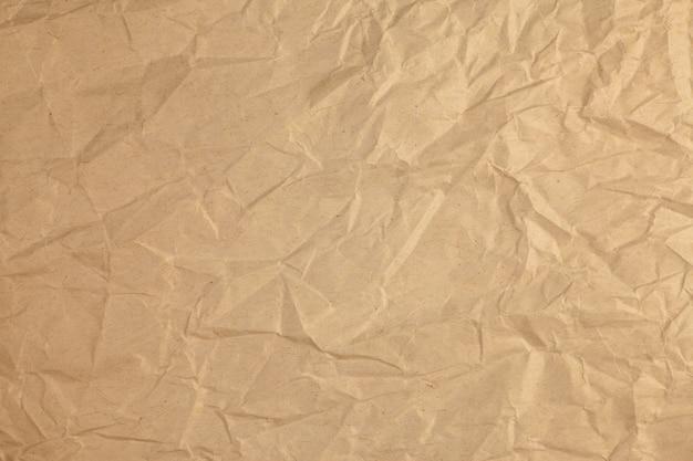 Fond de papier recyclé froissé vintage.