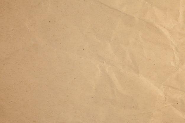 Fond de papier recyclé vintage froissé.