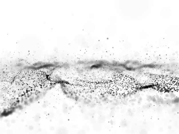 Fond de particules qui coule abstrait 3d