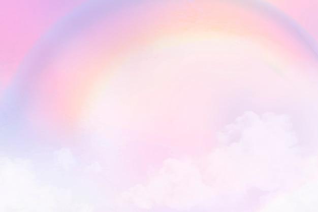 Fond pastel avec ciel dégradé rose esthétique