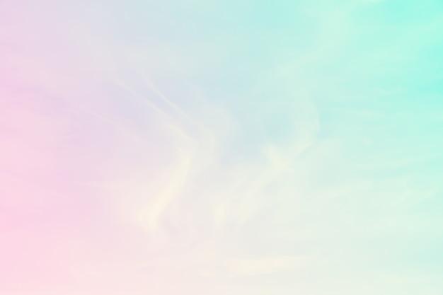 Fond pastel de couleur abstraite, un ciel doux avec fond de nuage de couleur pastel