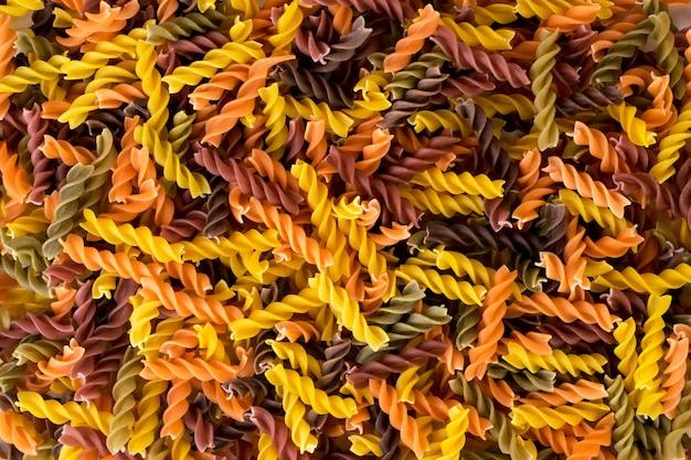 Fond de pâtes colorées