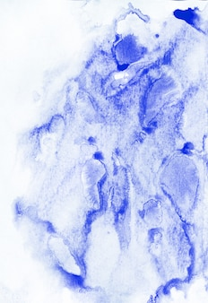Fond de peinture abstraite. aquarelle texture bleue.
