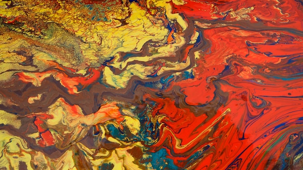 Fond de peinture abstraite colorée.