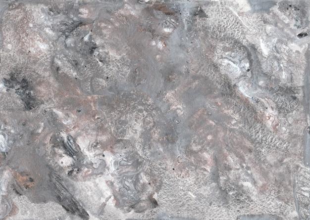 Fond de peinture abstraite en toile de marbre gris avec texture or, bronze.