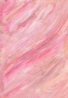 Fond de peinture abstraite sur toile de marbre rose or liquide avec texture or, éclaboussures de bronze et rayures. peinture fluide.