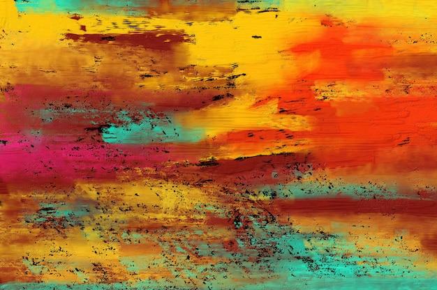 Fond de peinture abstraite.