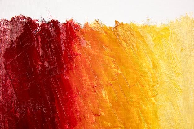 Fond de peinture acrylique vue de dessus