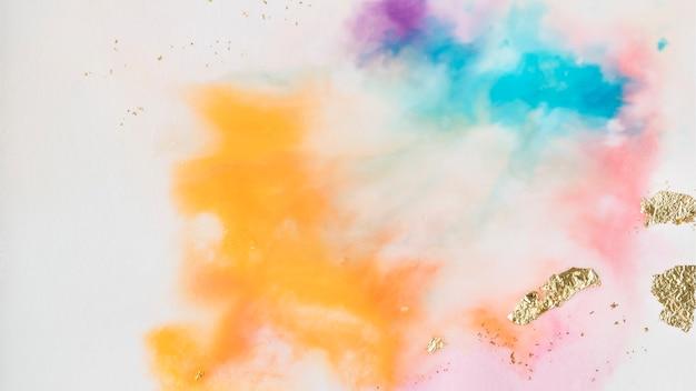 Fond de peinture aquarelle abstraite colorée