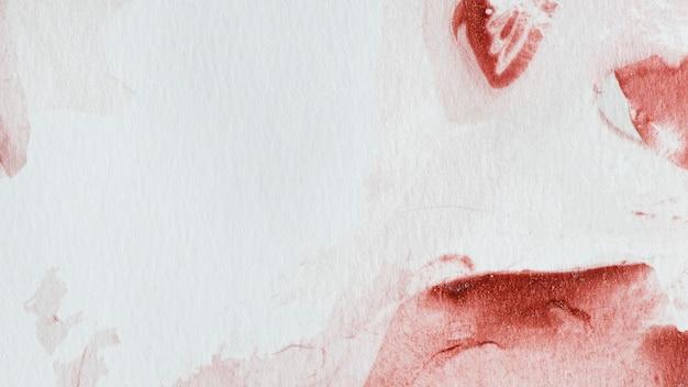 Fond de peinture aquarelle abstraite rouge