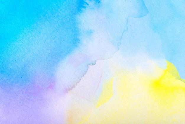 Fond de peinture au pinceau aquarelle avec une main dessinée dans le papier