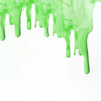 Fond de peinture liquide vert avec fond