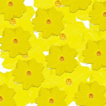 Fond de peinture numérique aquarelle cosmos jaune