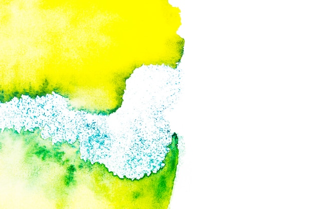 Fond de peinture verte et jaune