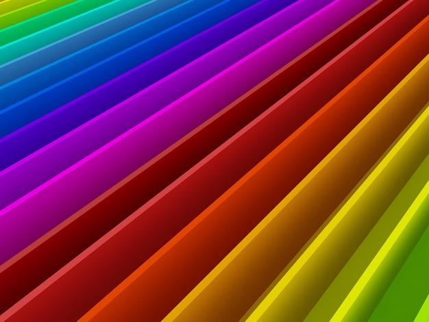 Fond de perspective abstrait arc-en-ciel coloré
