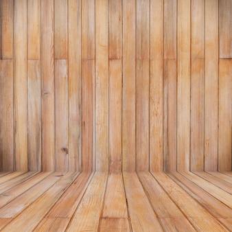 Fond de perspective en bois et textute avec espace de copie