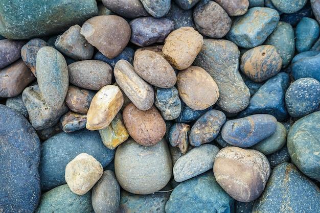 Fond de pierre de galets avec filtre vintage