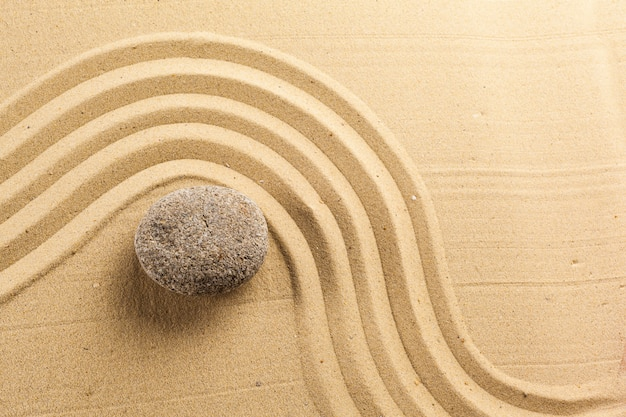 Fond de pierre de méditation jardin zen
