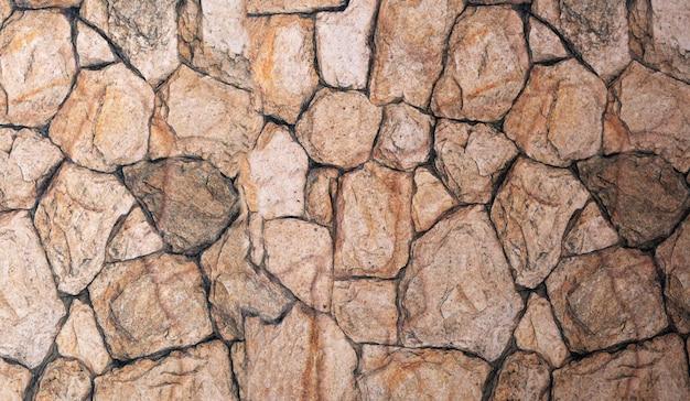 Un fond en pierre naturelle de forme panoramique.