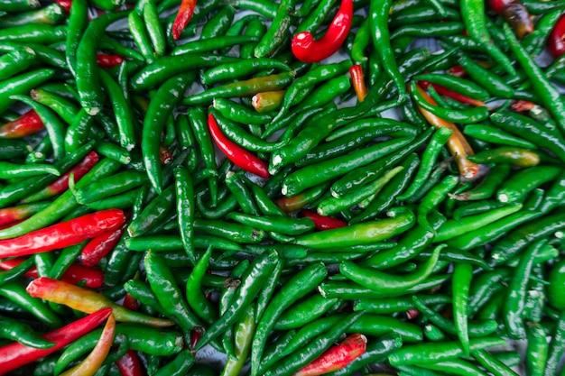 Fond de piment rouge et vert