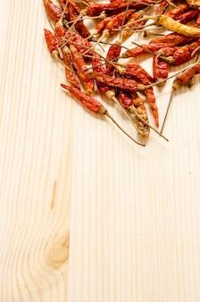 Fond de piments séchés. assaisonnement de la cuisine thaïlandaise.