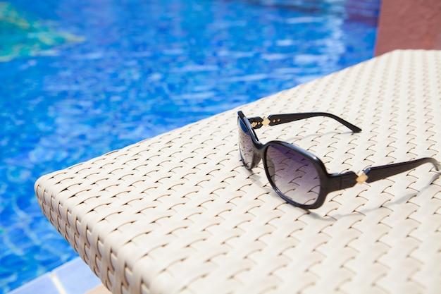Fond de piscine pour résumé et été