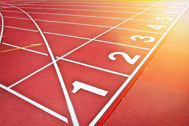 Fond de piste d'athlétisme.