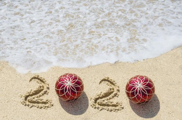Fond de plage de l'année 2020