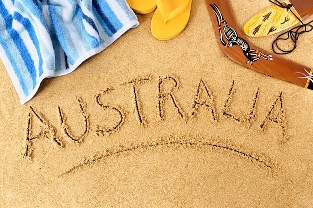 Fond de plage australie