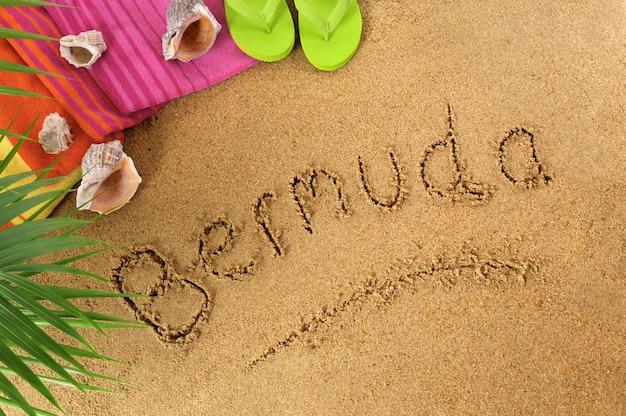 Fond de plage des bermudes