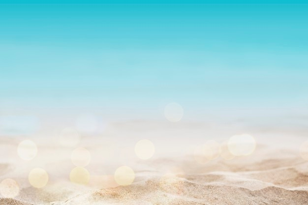 Fond de plage d'été tourné dans un style bokeh