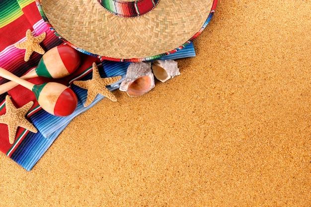Fond de plage mexicaine
