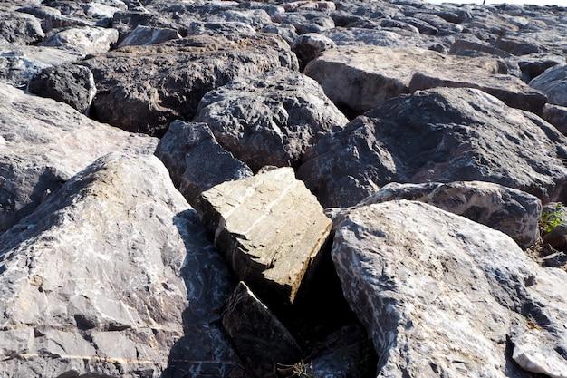 Fond de plage de rock