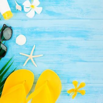 Fond de plage de vacances d'été coloré