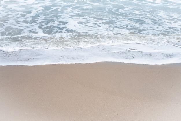 Le fond de la plage