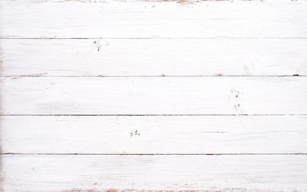 Fond de planche de bois blanc rustique. style vintage