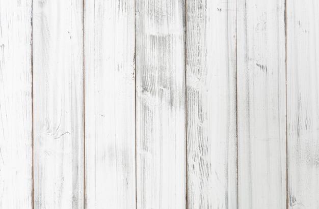 Fond de planche de bois blanc vintage