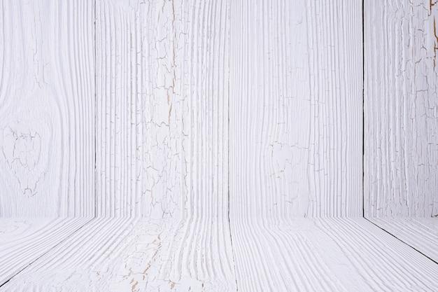 Fond et plancher de bois blanc. texture en bois. surface, fond d'écran, produit mis.